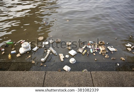 Junk in the Chao Phraya river. (morning photo with sunshine)  - stock photo