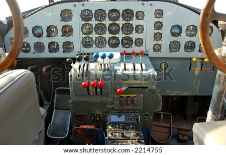 Junkers 52 cockpit - world war II german airplane