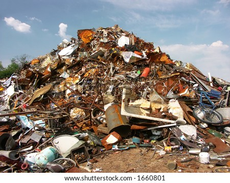 Junkyard - stock photo