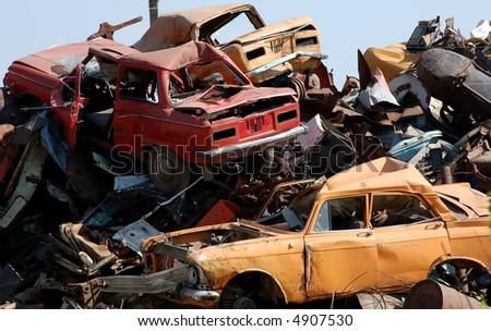 junkyard - stock photo