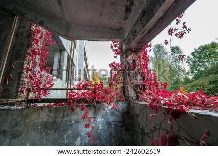 Jupiter Factory in Pripyat ghost town, Chernobyl Nuclear Power Plant Zone of Alienation, Ukraine - stock photo