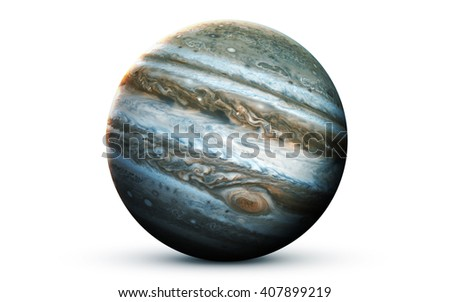 Jupiter - High resolution 3D images presents planets of the solar system. This image elements furnished by NASA - stock photo