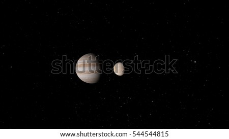Jupiter`s Icy Moon Europa (Elements of this image furnished by NASA)