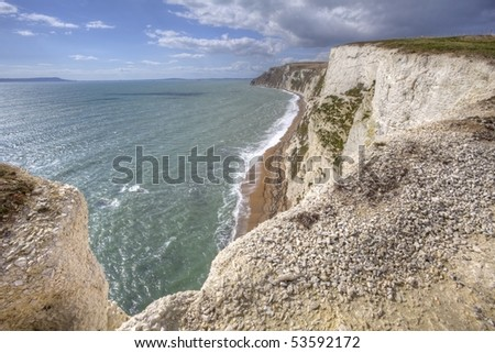 Jurassic coast in Dorset England, world nature heritage
