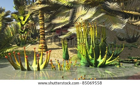 Jurassic park - stock photo