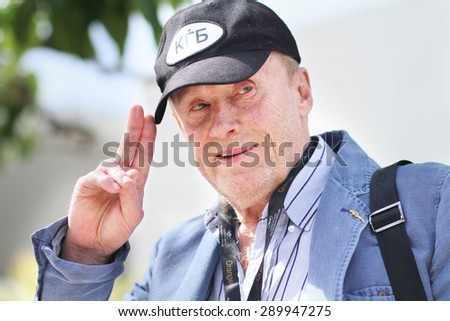 Jury member Daniel Olbrychski attends the Jury De La Cinefondation Photocall during the 68th annual Cannes Film Festival on May 21, 2015 in Cannes, France. - stock photo