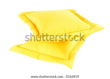 Just a simple Yellow Pillow in a white background