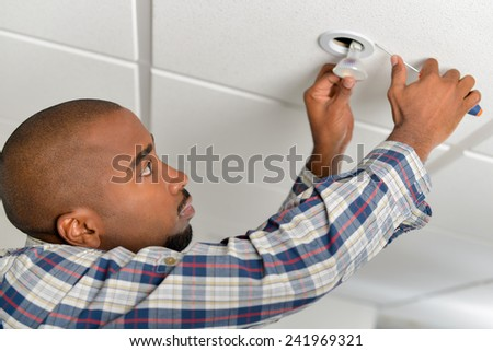 Just need to change this bulb - stock photo