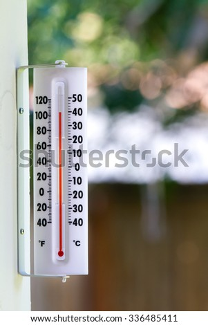Just over 100 degrees outside during the summer time - stock photo
