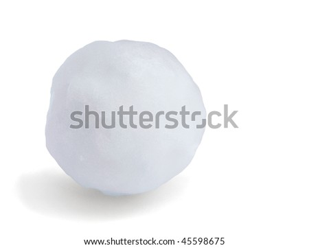 Just snowball isolated on white - stock photo