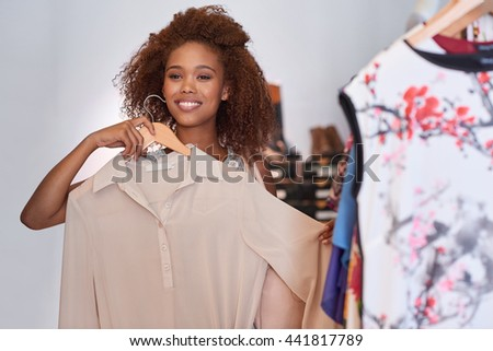 Just the blouse I was looking for - stock photo