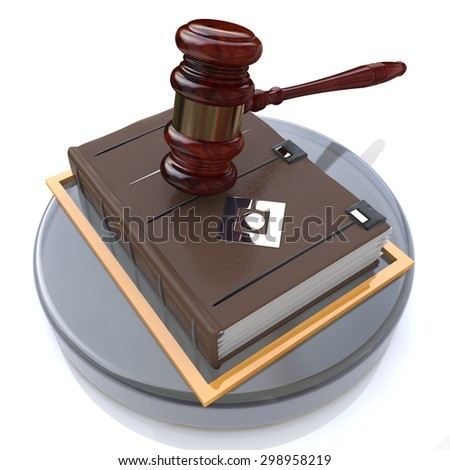 Justice book  - stock photo