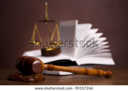 Justice concept, Gavel - stock photo