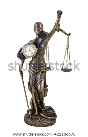 Justice delayed is justice denied - stock photo