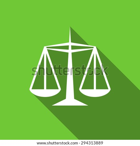 justice flat icon law sign original modern design flat icon for web and mobile app with long shadow  - stock photo