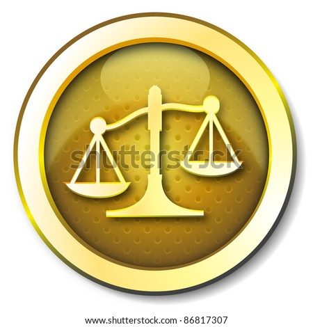 Justice icon - stock photo