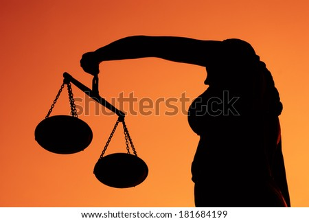 Justice Lady - stock photo