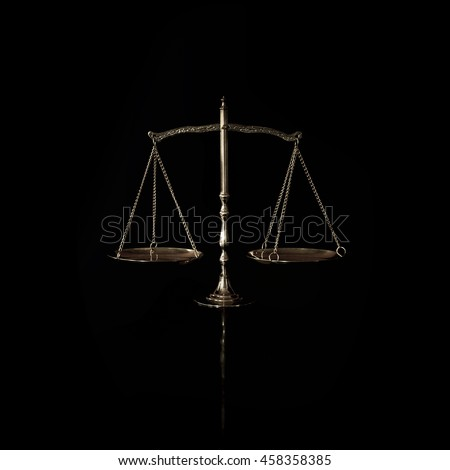 justice scales - stock photo