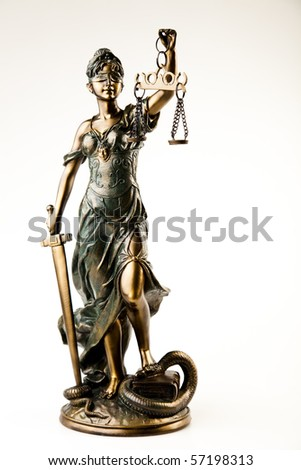 Justice statue - stock photo
