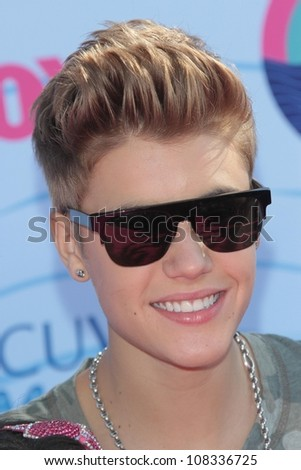 Justin Bieber at the 2012 Teen Choice Awards Arrivals, Gibson Amphitheatre, Universal City, CA 07-22-12 - stock photo