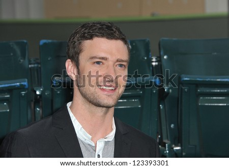 """Justin Timberlake at the premiere of his movie """"Trouble With The Curve"""" at the Mann Village Theatre, Westwood. September 19, 2012  Los Angeles, CA Picture: Paul Smith - stock photo"""