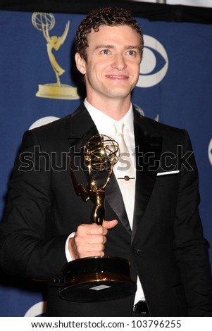 Justin Timberlake  in the Press Room at the 61st Annual Primetime Emmy Awards. Nokia Theatre, Los Angeles, CA. 09-20-09
