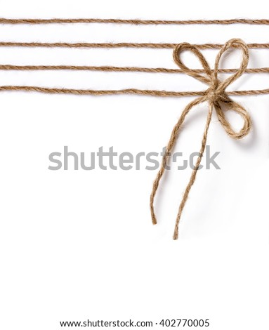 jute node bow for packing and decoration