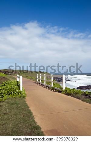 Ka Ala Hale Maka Lei, Kauai, Hawaii - stock photo