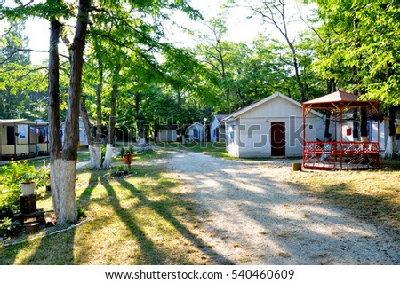 Kabardinka, Russia - July 30,2015: recreation center on the Black Sea coast, Kabardinka, Krasnodar region, Russia