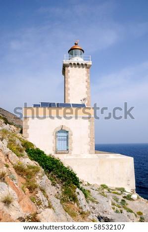 Kabo Maleas - Faros  The lighthouse of Lakonia - stock photo