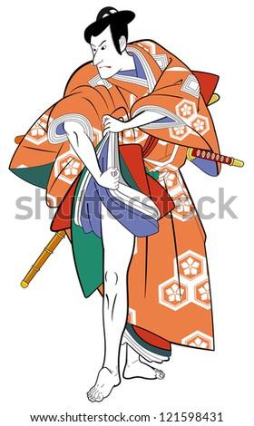 Kabuki actor - stock photo