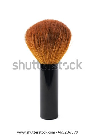 Kabuki mashroom makeup brush isolated over the white background