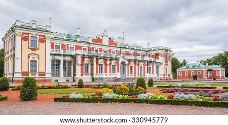 Kadriorg Palace, Tallinn, Estonia-October 30, 2015: A baroque palace built for Catherine I of Russia by Peter the Great after the Great Northern War. Currently houses part of Art Museum of Estonia