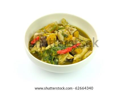 Kaeng Nor Mai Thai food and Lao food. - stock photo