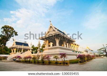 Kaew Grovaram temple, Krabi town, Krabi province, Thailand - stock photo