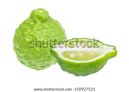 Kaffir Lime isolated on white background