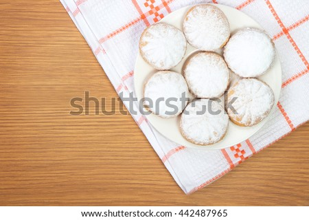 Kahk El Eid - Translation : Cookies of El Fitr Islamic Feast - stock photo