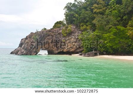 Kai island at  tarutao national park ,Satun in Thailand - stock photo