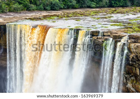Kaieteur Falls, a waterfall on the Potaro River, Kaieteur National Park, Guyana, South America - stock photo