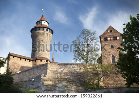 Kaiserburg, a part of Emperor's castle, Nuremberg, Germany - stock photo