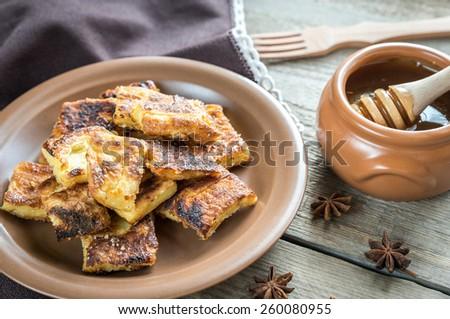 Kaiserschmarrn - popular austrian pancakes - stock photo