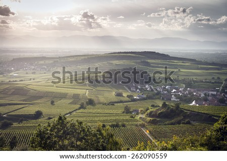 Kaiserstuhl Sunset - stock photo