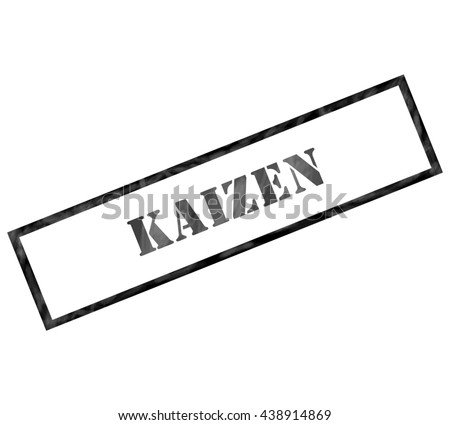 Kaizen black grunge rectangle stamp making a great concept - stock photo