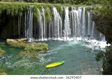 Kajaking on Zrmanja river - stock photo
