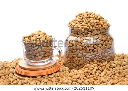 Kala beans The farm in northern Thailand. - stock photo