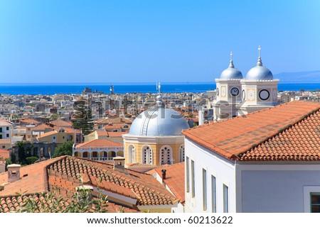 Kalamata greece City Kalamata rooftops in Greece