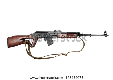 kalashnikov based sniper rifle - stock photo