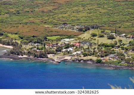 Kalaupapa Lookout, Molokai, Hawaii-1 - stock photo