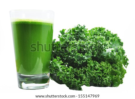 Kale and Kale Juice - stock photo