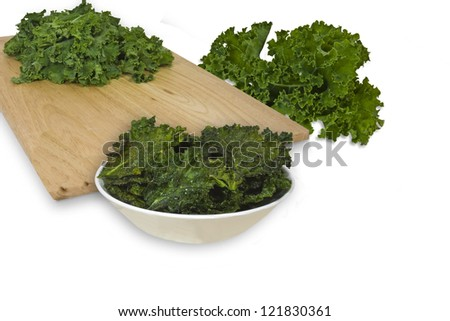 Kale Chips illustrating ingredients - stock photo